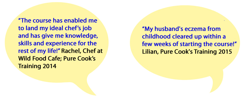 Pure Cooks Training bubble testimonials 1